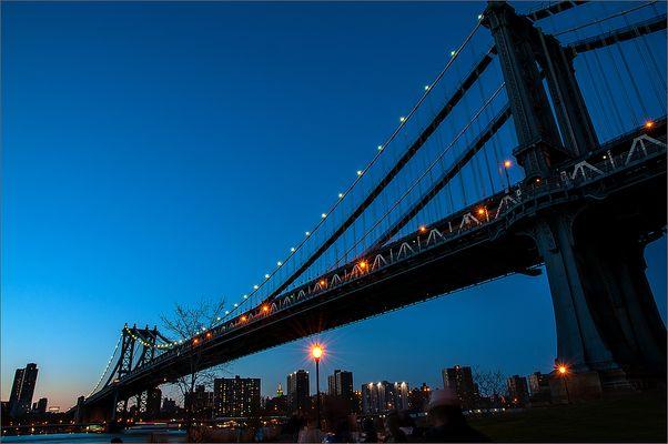 N.Y. [105] - Manhattan Bridge @ Night
