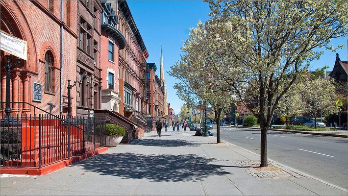 N.Y. [91] - Walking down the street @ Harlem
