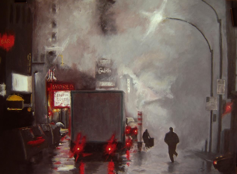 NY in rain & fog