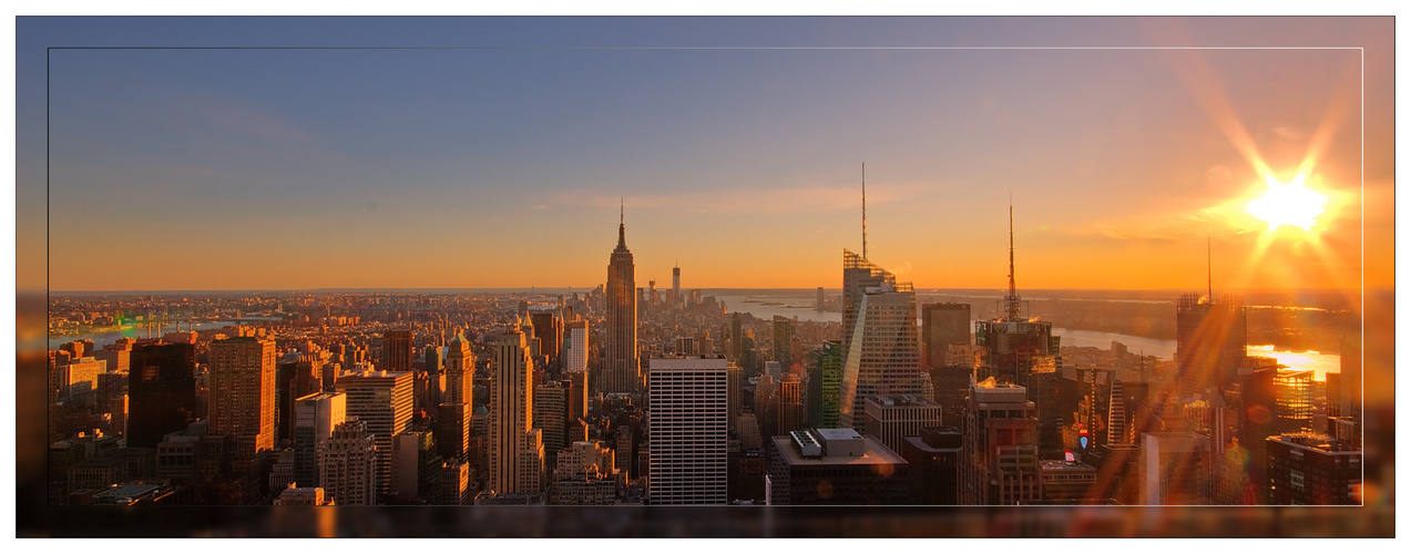 NY- Skyline sunset
