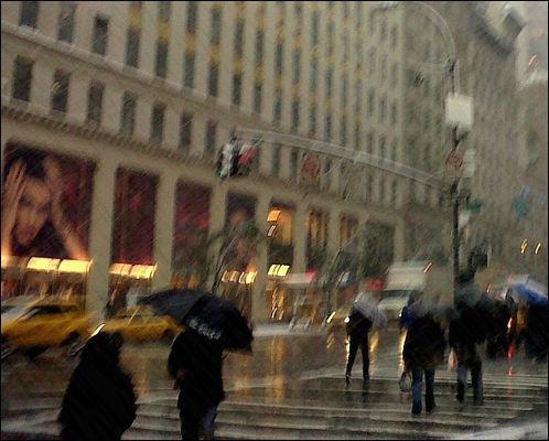 N.Y. sous la pluie !