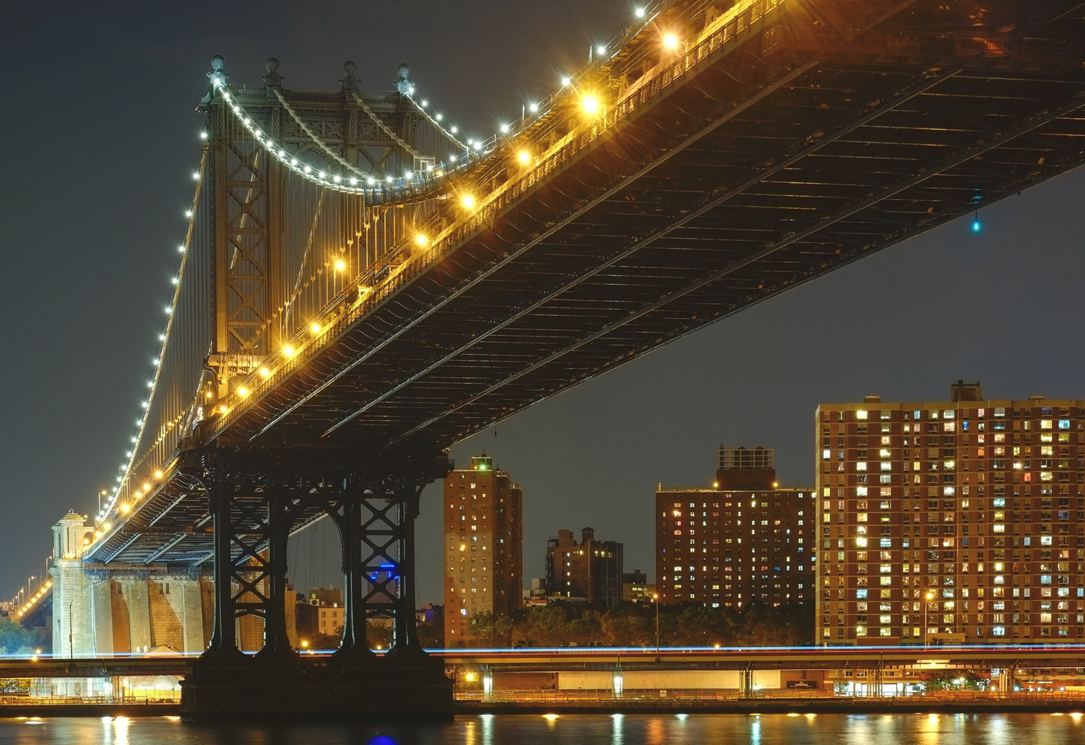 NYC Lights Manhattan Bridge