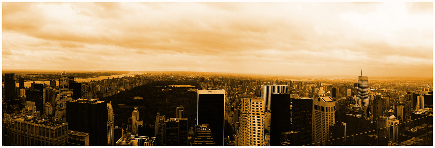 nyc manhattan central park - top of the rocks