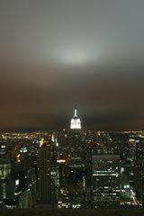 NYC nachts mit dem Empire State Building
