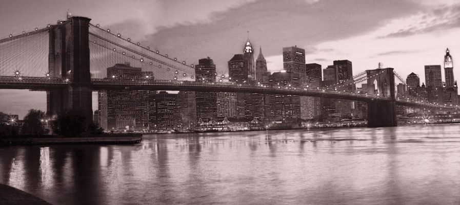 NYC Skyline and Brooklyn Bridge enhanced