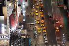 NYC Taxen in der Nacht