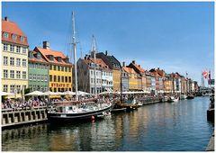 Nyhavn, cartolina di Copegnaga.