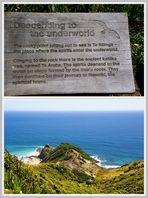 NZ Cape Reinga Abstieg in díe Unterwelt