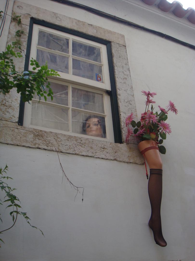 O profano? Nos degraus da escadinha de S. Miguel-Lisboa