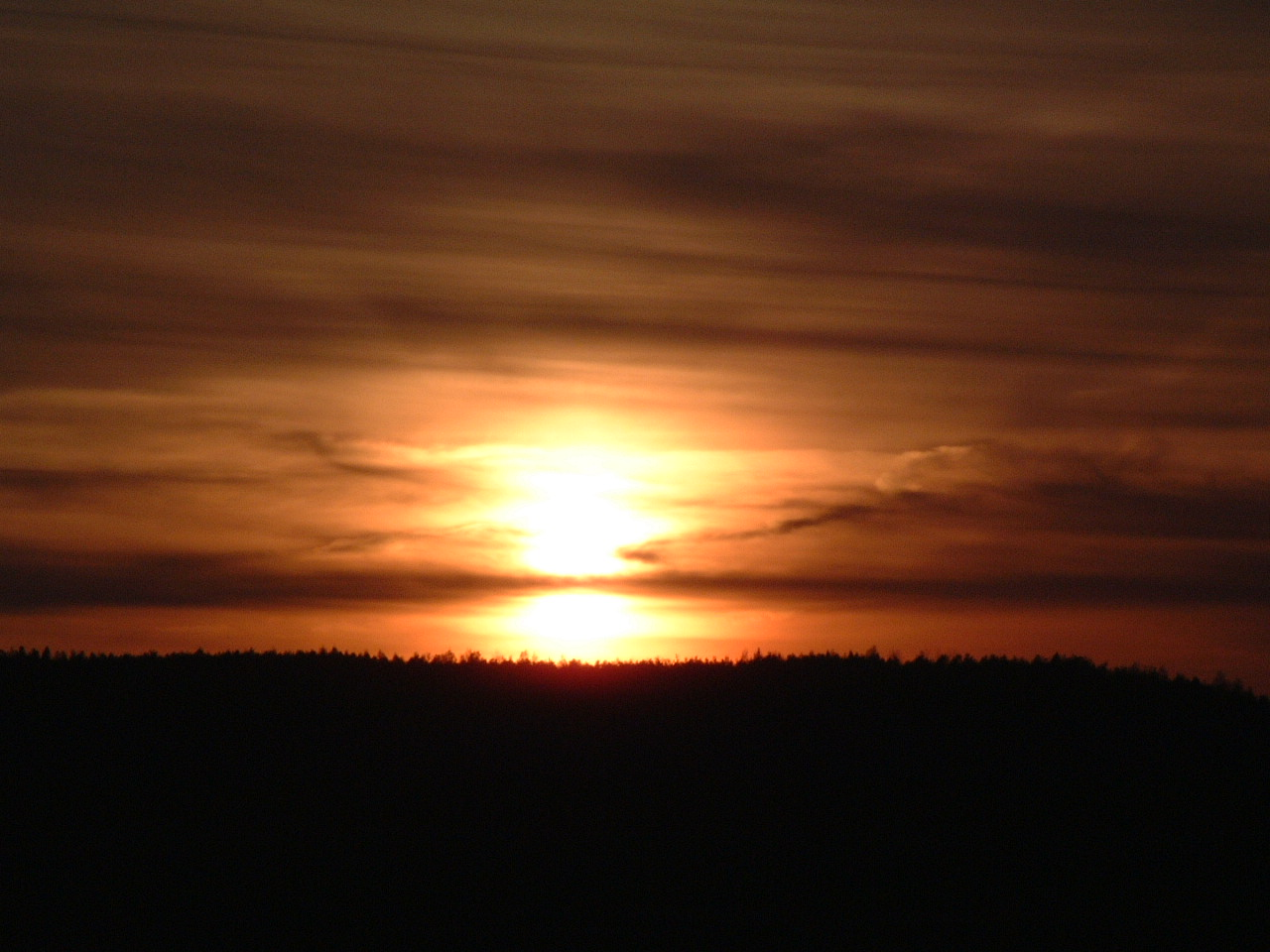 O-See Sonnenuntergang