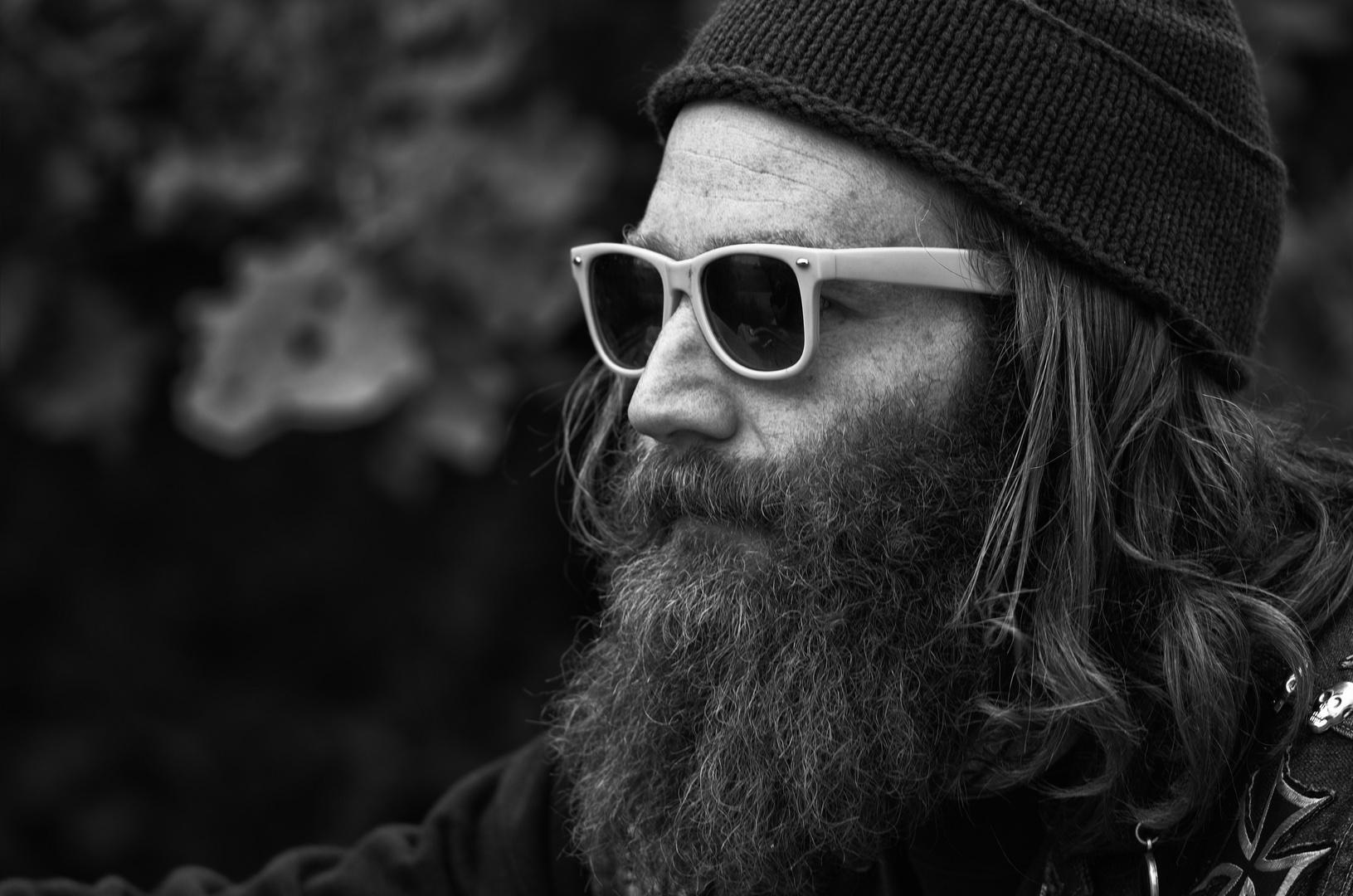 Ob der Bart bis Weihnachten noch weiß wird?