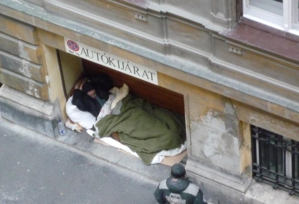 Obdachlos in Budapest