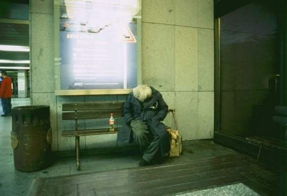 Obdachloser Bahnhof Prag