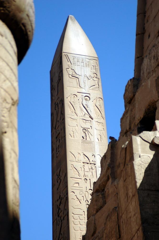 Obelisk im Karnak-Tempel