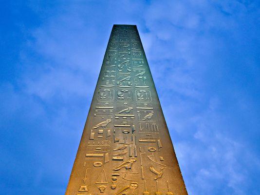 Obelisk im Luxor Tempel