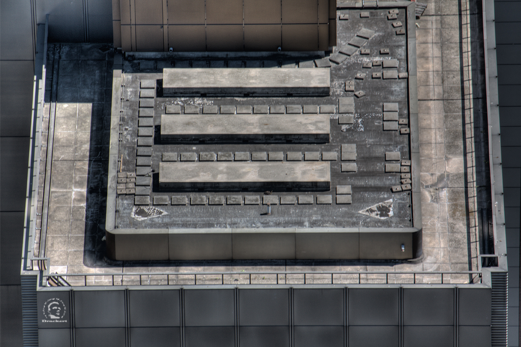 Oben auf dem Dach