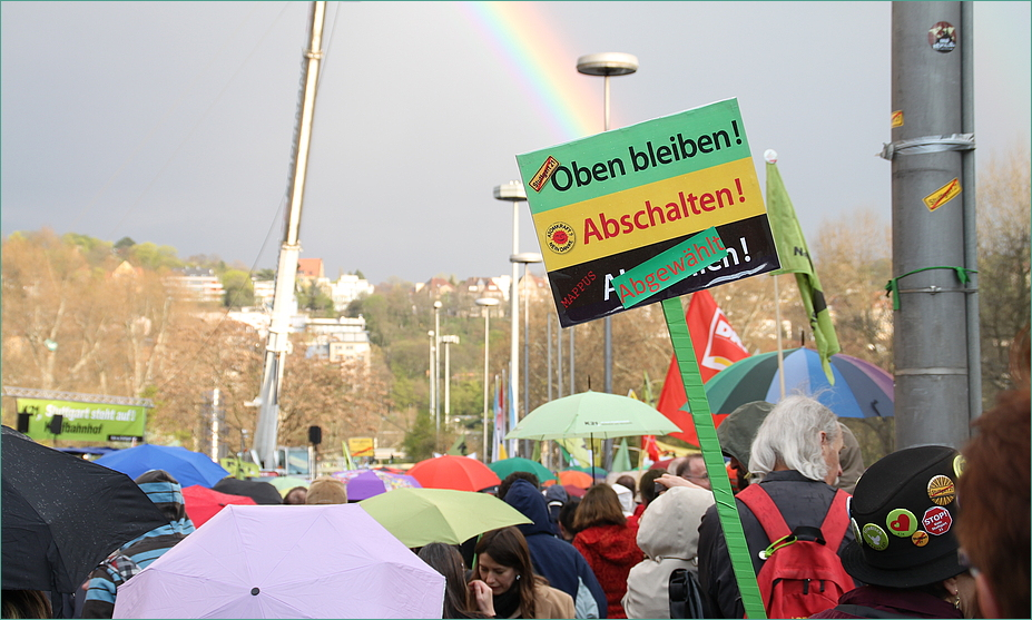 Oben Bleiben K21 Regenbogen Stuttgart  Modemo 4.4.2011