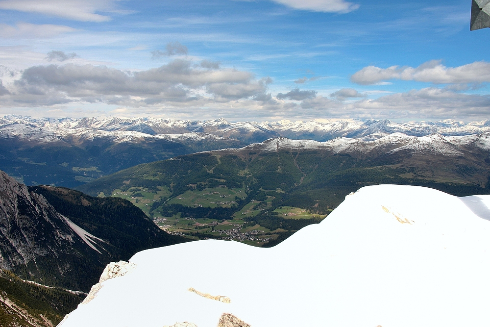 Oberbachernspitze - 2.675 m, das Gipfekreuz rechts im Bild habe ich bewußt...
