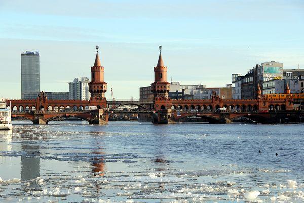 Oberbaumbrücke im Winter