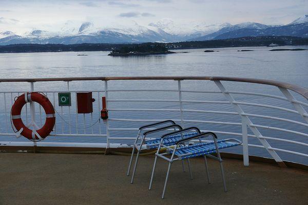 Oberdeck der MS Trollfjord