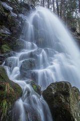 Obere Stufe des Zweribach-Wasserfalls