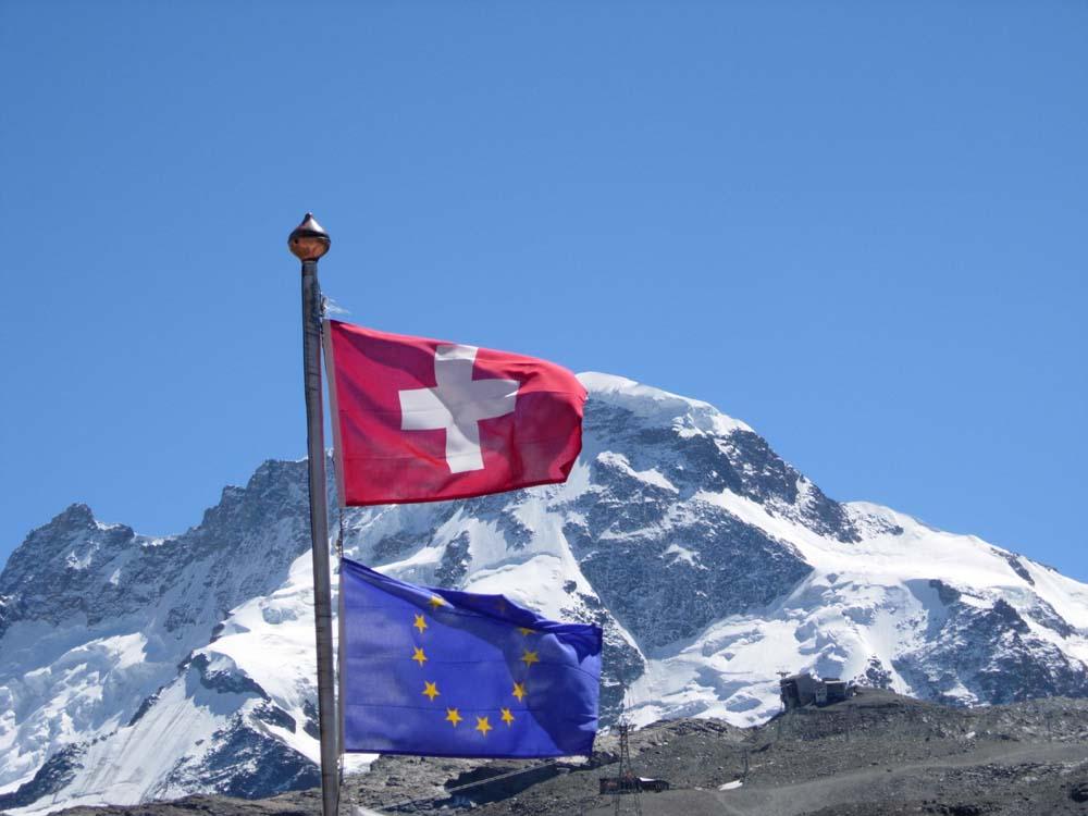 Oberhalb von Zermatt, in der Schweiz...