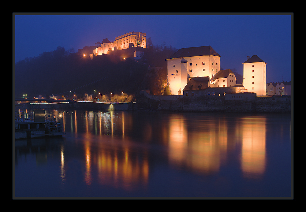 Oberhaus in Passau bei Nacht