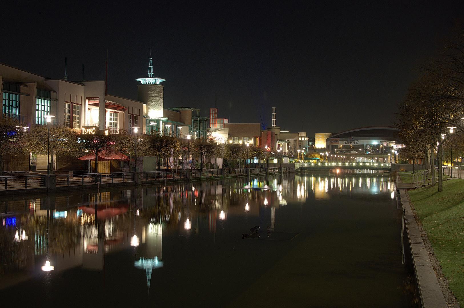 Oberhausen bei Nacht