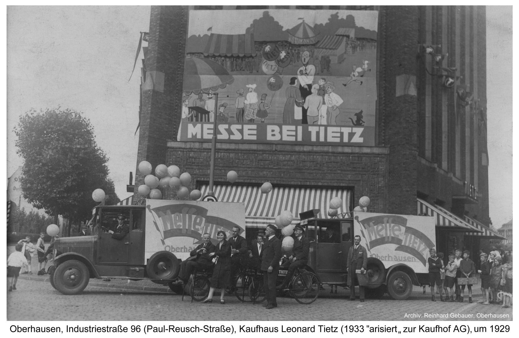 Oberhausen, Kaufhaus Leonard Tietz, um 1929