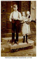 Oberhausen-Sterkrade, Arbeiterfamilie, um 1930