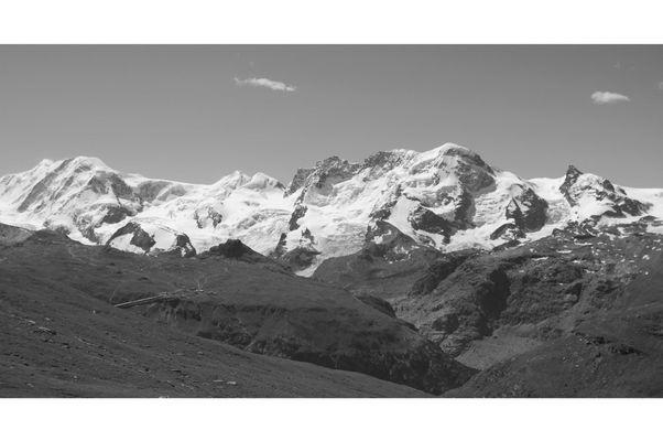 Oberwalliser Bergpanorama