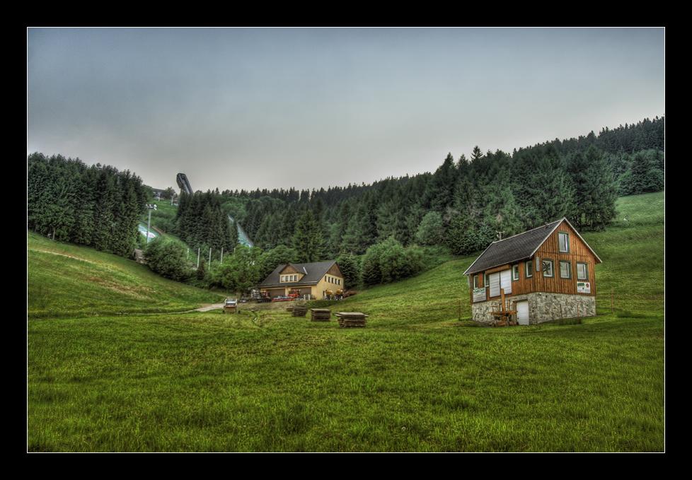 Oberwiesenthal (Blick zur Schanze)