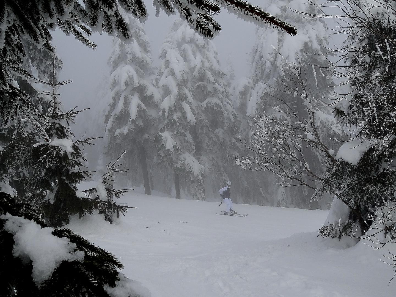 Oberwiesenthal in Februarnebel 2013 - 5
