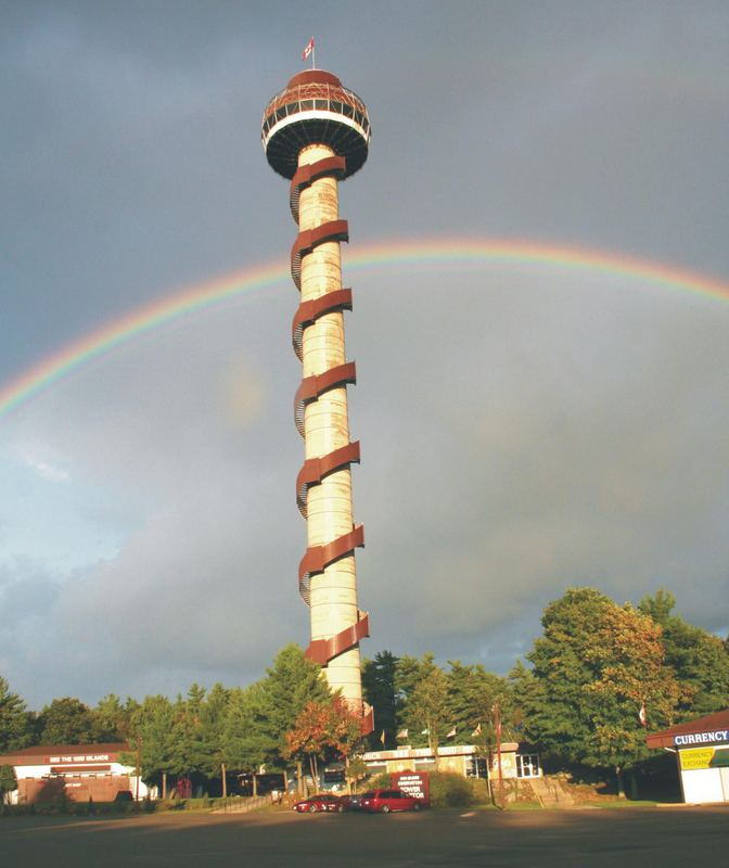Observation Tower mitten in den Thousand Islands