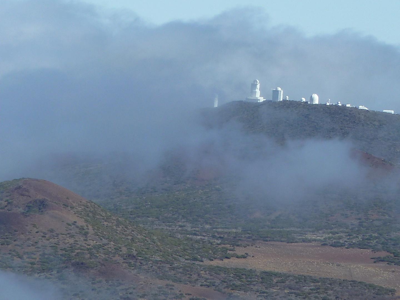 Observatorium im Nebel