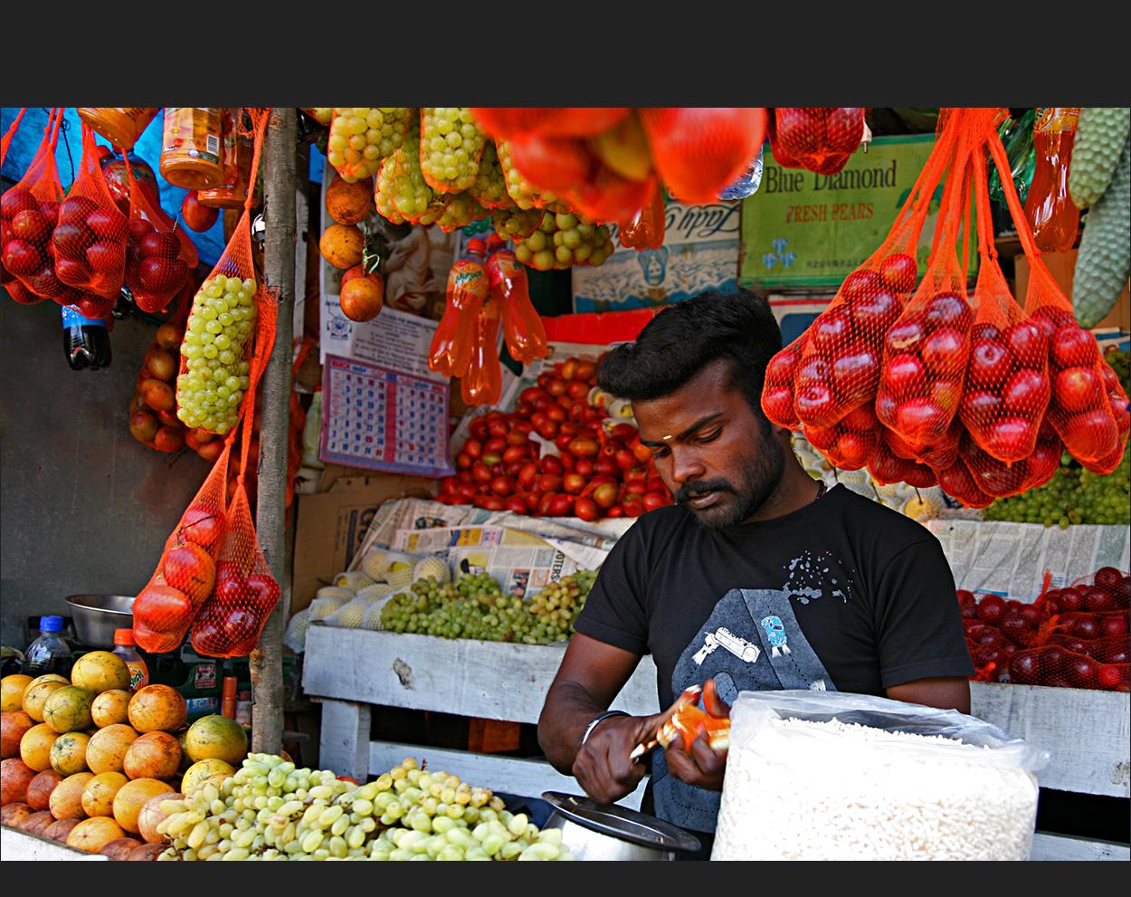 Obst, auf Wunsch auch geschält