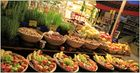 Obst- und Gemüsestand in der Frankfurter Kleinmarkthalle