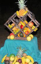 Obstteller mitten in der Wildnis
