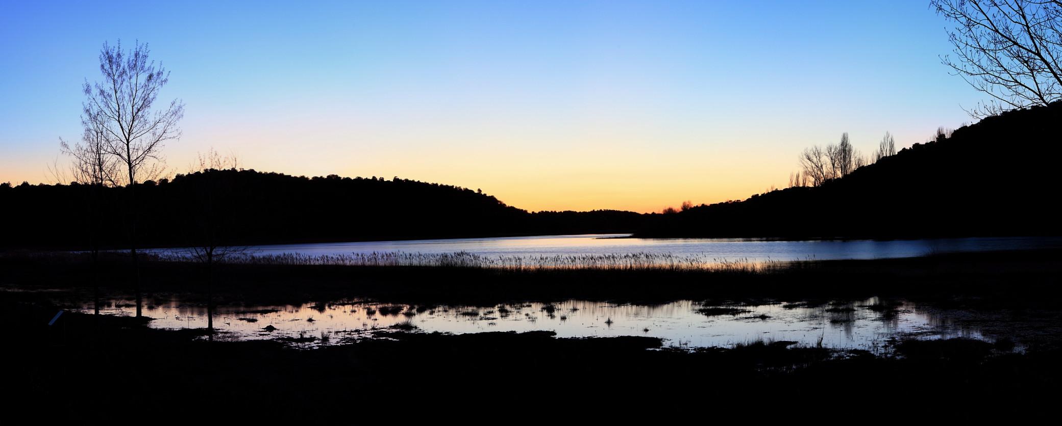 ocaso en las lagunas de Ruidera