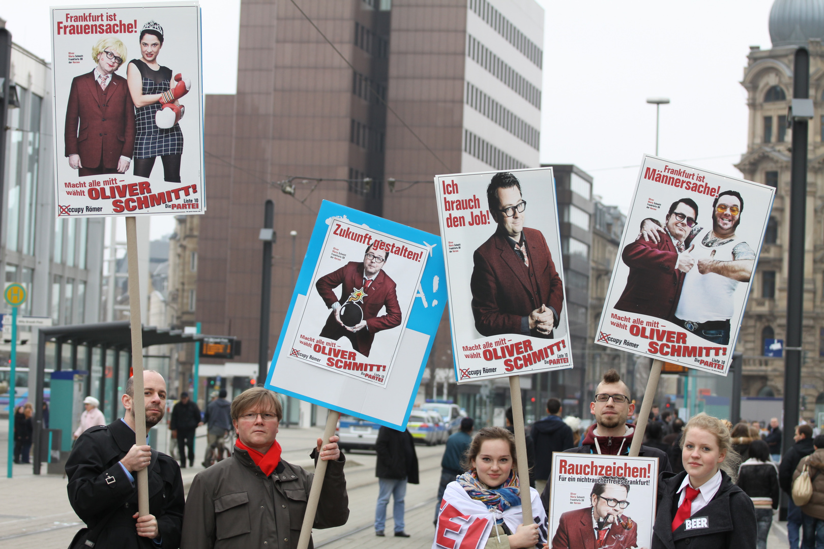 Occupy Römer - Ich brauch den Job!