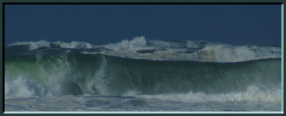 Océan en colère sur la côte Landaise.