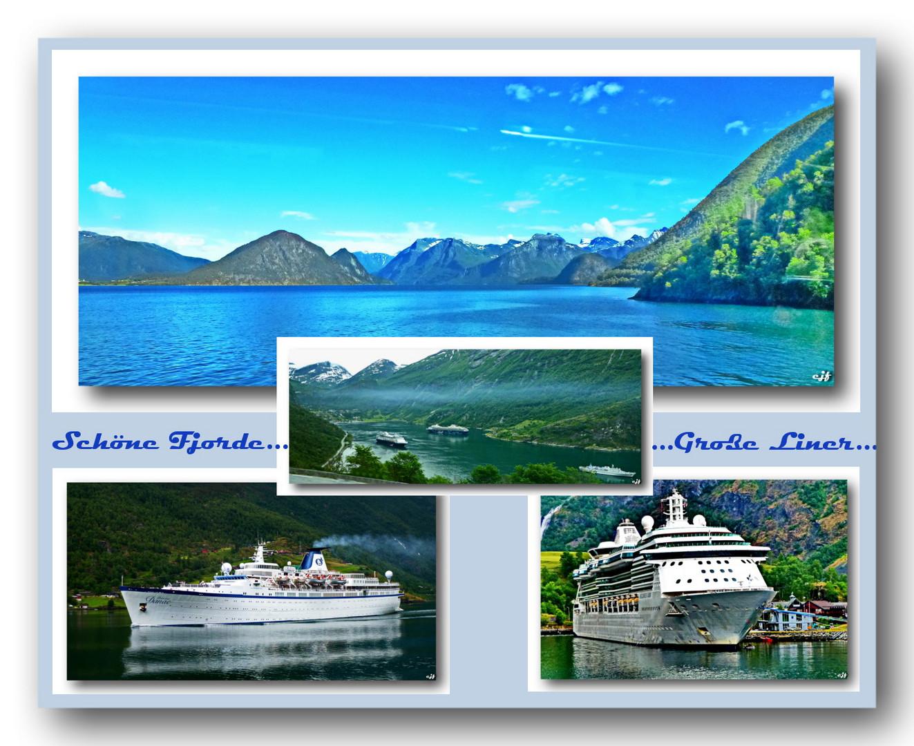 Ocean-Liner in den Fjorden