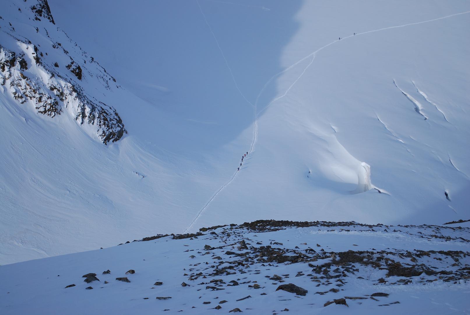 Ochsentaler Gletscher aus der Vogelperspektive