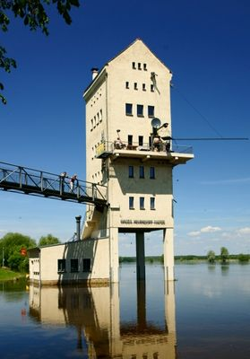 Oderflut im Juni 2010 Wasserstand 0,5m unter Maximalpegel