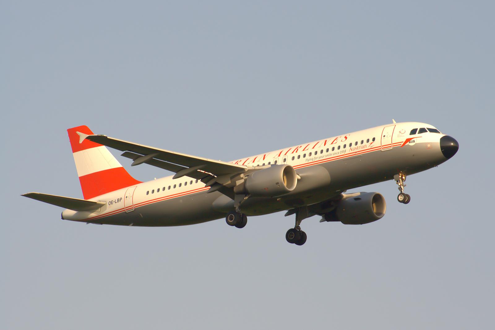 OE-LBP Austrian Airlines Airbus A320-200 Retro c/s