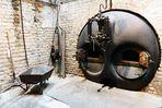 Öffnung für den Kohleneinschub zum Kesselhaus.