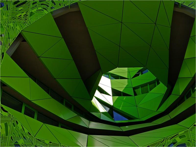 "Öffnung ""Le cube vert """