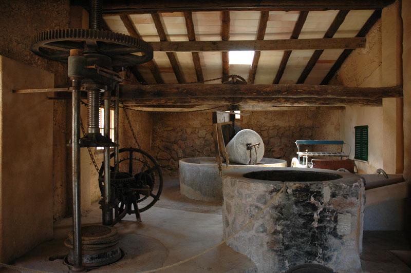 Ölmühle im Kloster Miramar