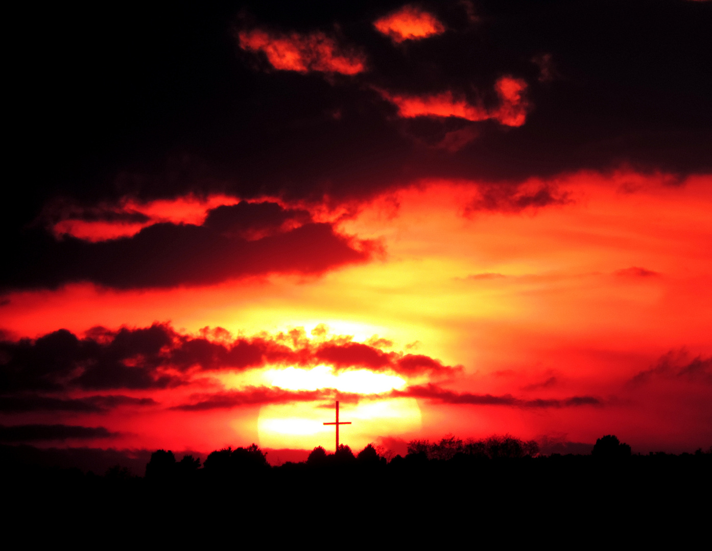 #...Österlicher Sonnenuntergang.........#