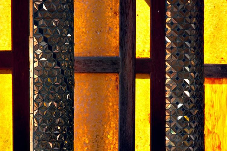 Offene Klosterfenster